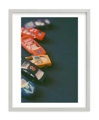 "Box Cars 11""x14"" - Light Gray Wood Framed - Minted"