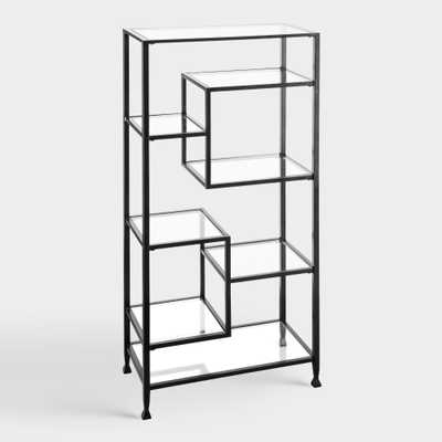 Black Metal And Glass Reiley Bookshelf by World Market - World Market/Cost Plus