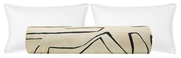 The Bolster :: Graffito // Linen + Onyx - Little Design Company