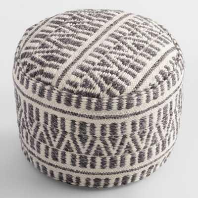 Woven Textured Floor Pouf by World Market - World Market/Cost Plus