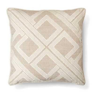 Beige Geo Patchwork Toss Throw Pillow - Threshold™ - Target
