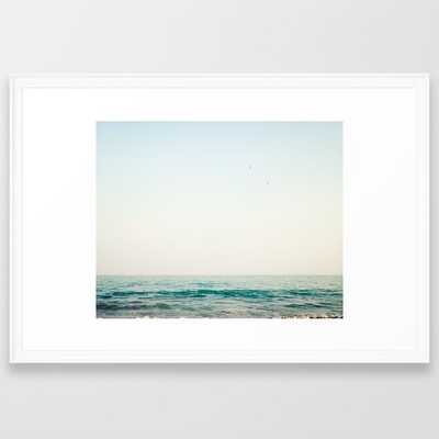 Jump, beach ocean art - medium gallery - SCOOP WHITE Frame - Society6