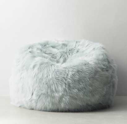 Kashmir Faux Fur Bean Bag - Seafoam - RH Teen