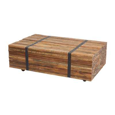 Teak Strapped Coffee Table - Rosen Studio