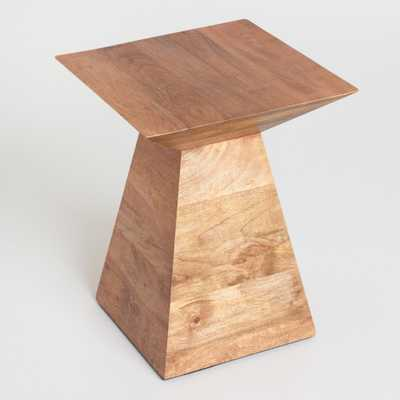 Wood Anton Accent Table: Natural by World Market - World Market/Cost Plus