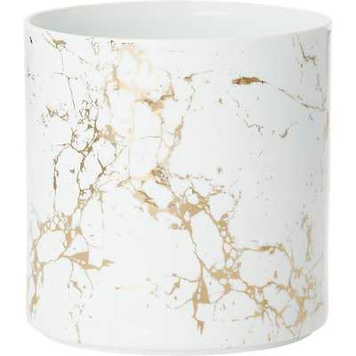 "palazzo medium marbleized planter, 7""D - CB2"