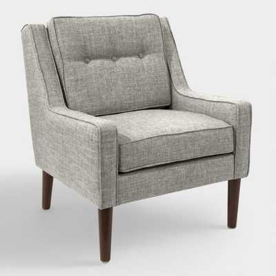 Linen Blend Rudy Upholstered Armchair - Pumice - World Market/Cost Plus