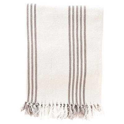 Ibiza Cotton Throw Blanket- French Blue - Birch Lane