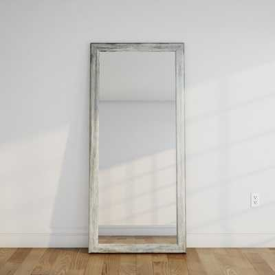 Weathered Gray Full Length Floor Wall Mirror - Home Depot