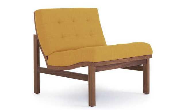 Yellow Powell Mid Century Modern Chair - Taylor Golden - Walnut - Joybird
