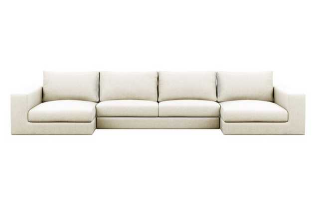 Walters Sectionals with U-Sectionals in Vanilla Fabric - Interior Define