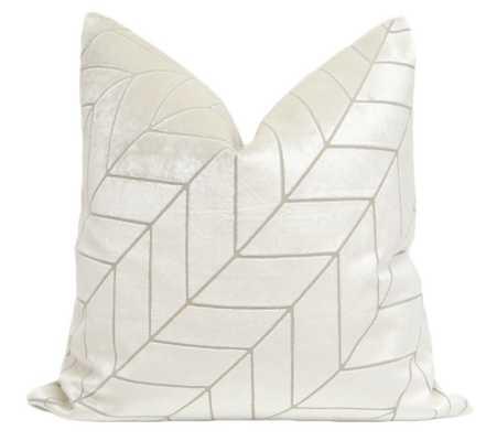 """Herringbone Velvet // Alabaster 20"""" - Little Design Company"""