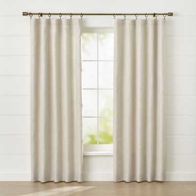 "Largo Natural Linen Blackout Curtain Panel  GreyNatural 50""x84"" - Crate and Barrel"