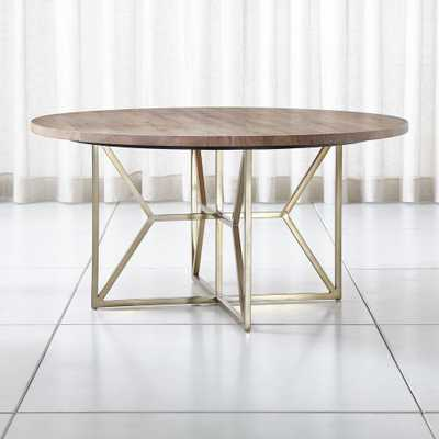 "Hayes 60"" Round Acacia Dining Table - Crate and Barrel"