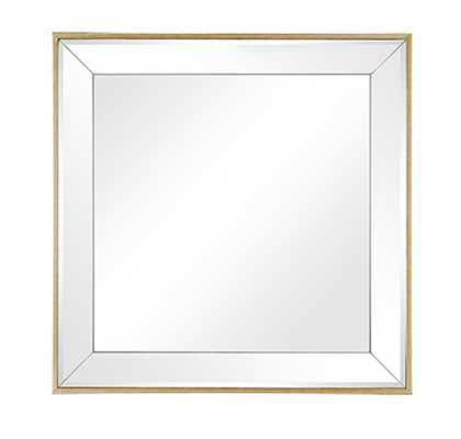 "FELICITY 20"" SQUARE MIRROR IN GOLD - Arhaus"
