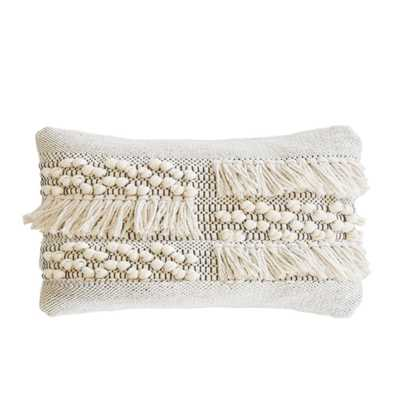 """ZAHRA HAND WOVEN PILLOW 14"""" X 24"""" WITH INSERT - Pom Pom at Home"""