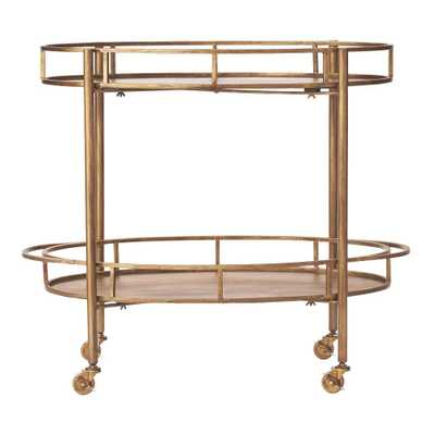 Eliza Gold Bar Cart - Home Depot