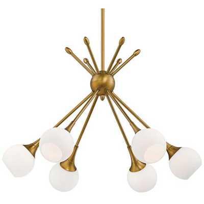 "George Kovacs Pontil 24"" Wide Honey Gold Chandelier - Lamps Plus"