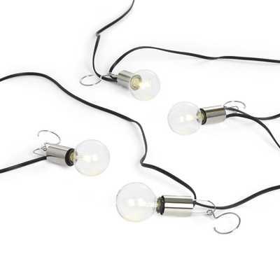 Patio Umbrella Globe LED String Lights - Crate and Barrel - Crate and Barrel