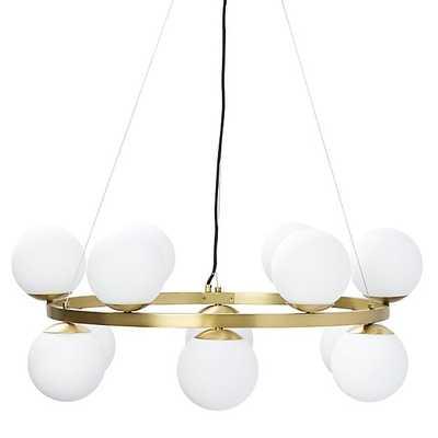bubbles brass ring pendant light - CB2