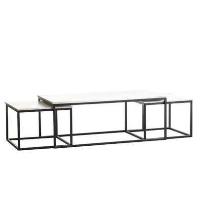 SET OF NESTING COFFEE TABLES – SET OF 3 - Wisteria