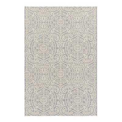"Marquette Indoor/Outdoor Rug- Gray- 7'7"" x 10'10"" - Ballard Designs"