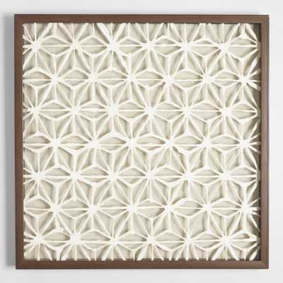 Rice Paper Star Shadowbox Wall Art: Natural - Wood by World Market - World Market/Cost Plus
