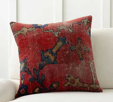 "Dara Persian Pillow Cover, 22"", Red Multi - Pottery Barn"