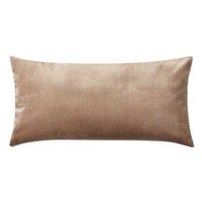 "Velvet Pillow Cover, 15"" X 30"", Apricot - Williams Sonoma"