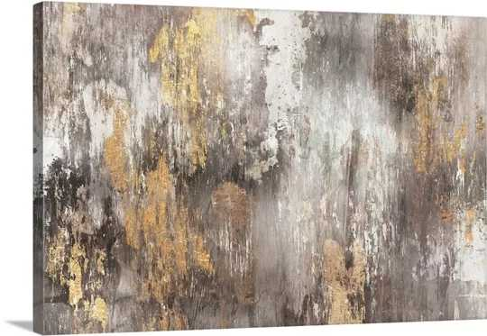 """Gold Ikat"" by PI Gallerie - Wayfair"