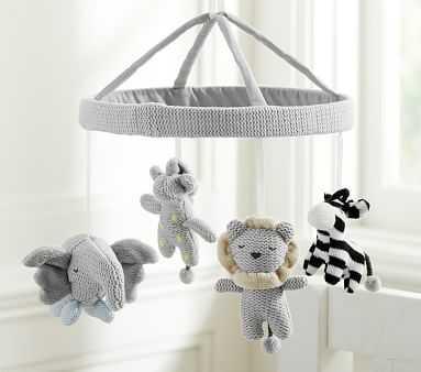 Knit Animal Crib Mobile - Pottery Barn Kids