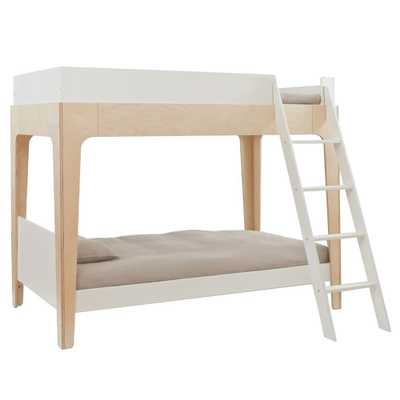 Perch Modern Classic Oeuf Twin Bunk Bed - Birch - Kathy Kuo Home