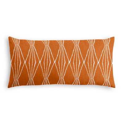 "Custom Lumbar Pillow - Orange Crush - 12"" x 24"" - Down Insert - Loom Decor"