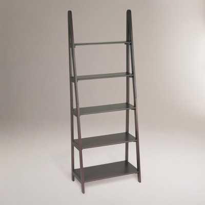 Dillon Ladder Bookshelf: Brown - Wood by World Market - World Market/Cost Plus