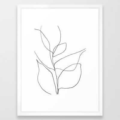 "Minimalist Line Art Plant, 20""x 26"" - Society6"