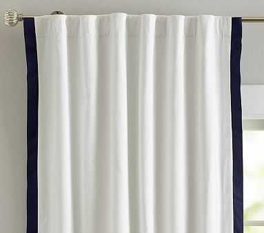 Newport Blackout Panel, 84 Inches, Navy - Pottery Barn Kids