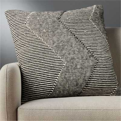 "23"" bias pillow with down-alternative insert - CB2"