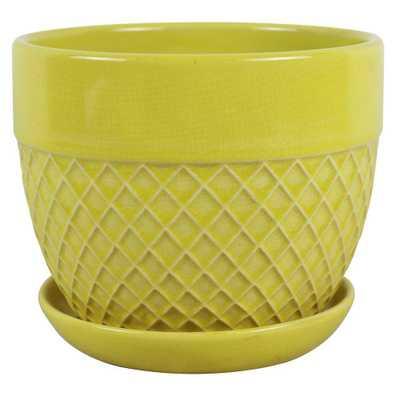 Trendspot 6 in. Dia Yellow Acorn Bell Planter - Home Depot