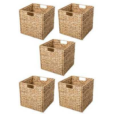 """Hyacinth Foldable Storage Basket with Iron Wire Frame- SET OF 4 - Wayfair"