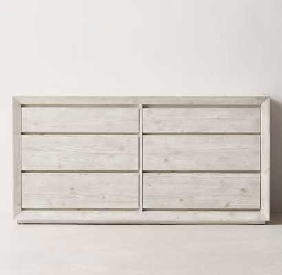 Callum Wide Dresser- Weathered White - RH Teen