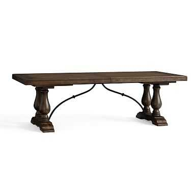 Lorraine Large Extending Dining Table, Hewn Oak - Pottery Barn