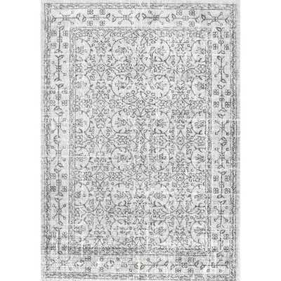 Vintage Waddell Grey 7 ft. 10 in. x 10 ft. 10 in. Area Rug - Home Depot