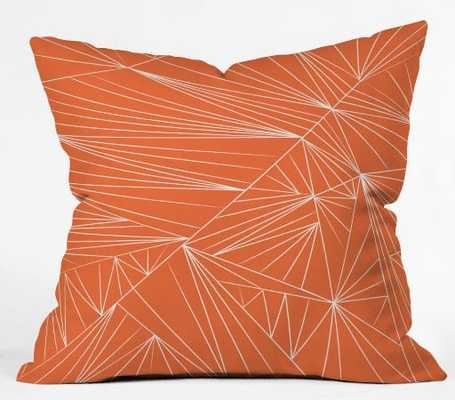 Tech It Out Orange - Throw Pillow with Insert- 18 x 18 - Wander Print Co.