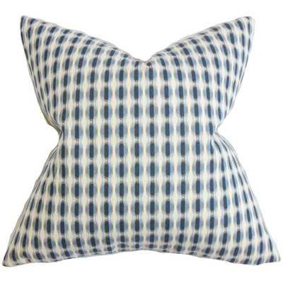 "Italo Geometric 20"" Pillow with Down Insert - Linen & Seam"