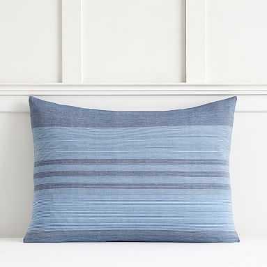 Brooklyn Stripe Sham, Standard, Blue Multi - Pottery Barn Teen