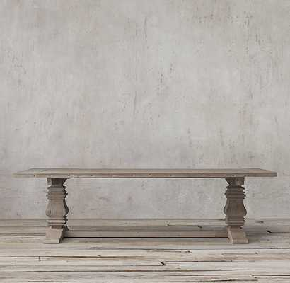 """SALVAGED WOOD TRESTLE RECTANGULAR EXTENSION DINING TABLE- 84"""" - RH"""