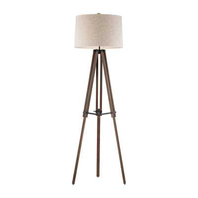Wooden Brace LED Tripod Floor Lamp - Rosen Studio