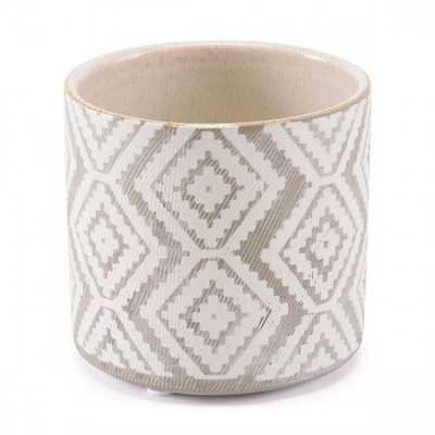 Indio Planter Sm White & Gray - Zuri Studios