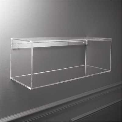 ACRYLIC STORAGE SHELF - CB2