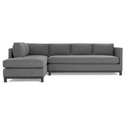 [CUSTOM] Clifton Sectional - Whit Charcoal - Right arm sofa + Left Arm chaise - Mitchell Gold + Bob Williams